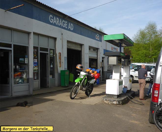 Tankstelle Motorrad