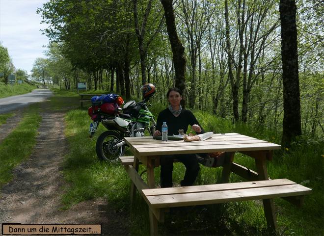 Pause Motorrad Picknick