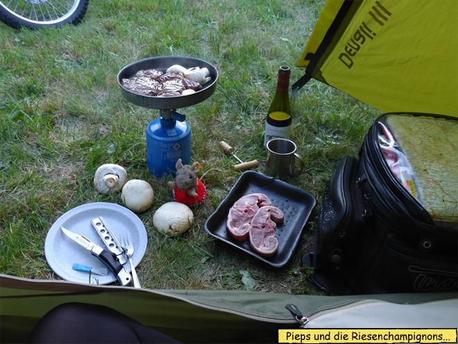 Zelt kochen braten