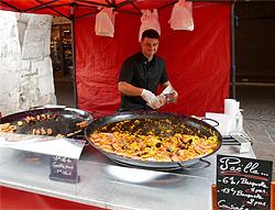 Paella Marktstand