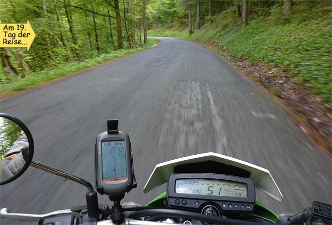 Nebenstrasse Motorrad