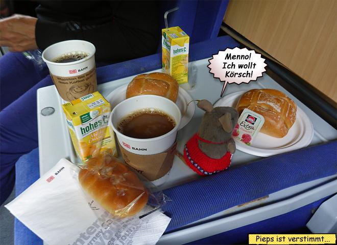 Autozug Frühstück