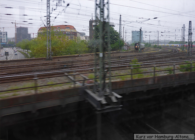 Hamburg aus dem Zug