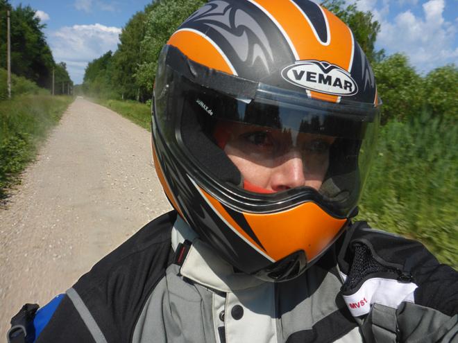 Schotterpiste Motorrad