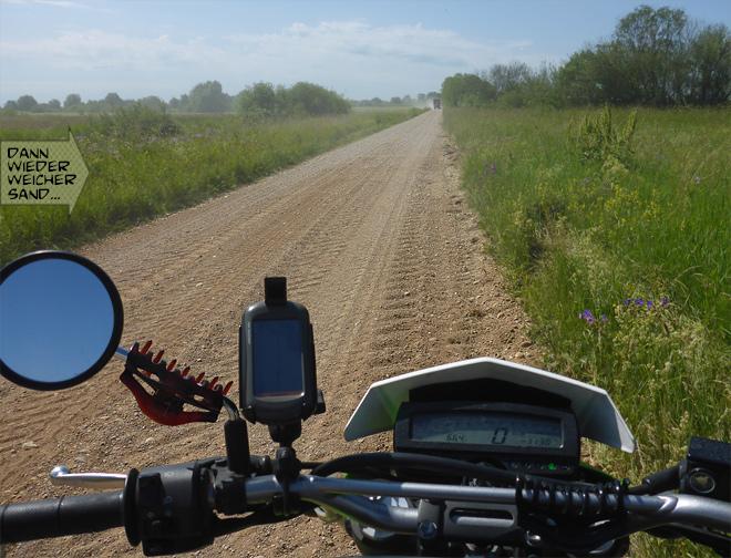 Feldweg Trecker Motorrad