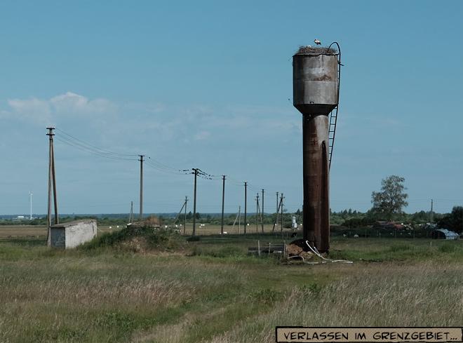 Wasserturm mit Storchennest