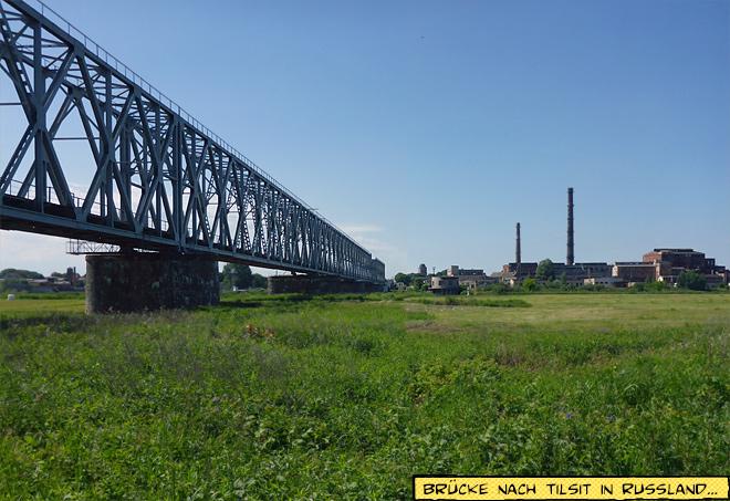 Eisenbahnbrücke Tilsit Russland