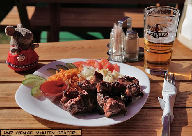 Schaschlik und Bier