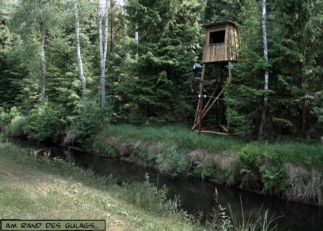 Wachturm Gulag im Grutas Skulpturenpark Litauen