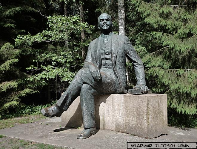 Lenin Skulptur Grutas Park Litauen