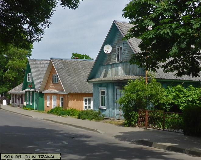 Trakai Litauen Holzhäuser