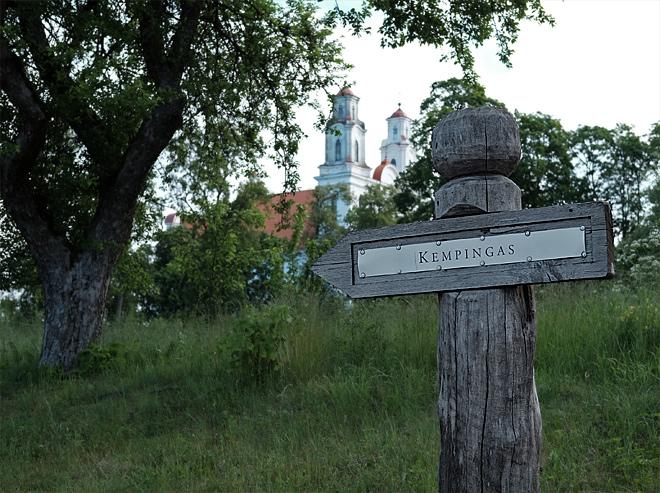 Schild Camping Kempingas in Litauen