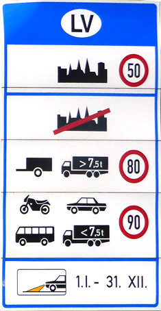 Lettland Speed Limit