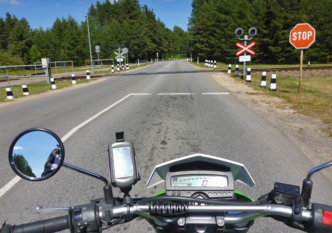 Bahnübergang Stop Schild