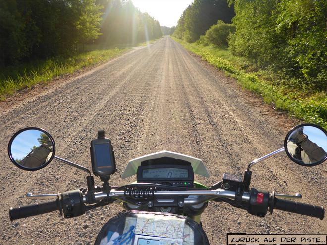 Morgenstimmung auf dem Motorrad
