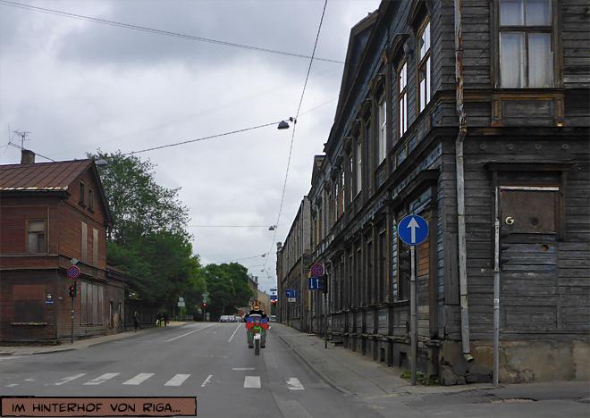 Riga Straßenszene