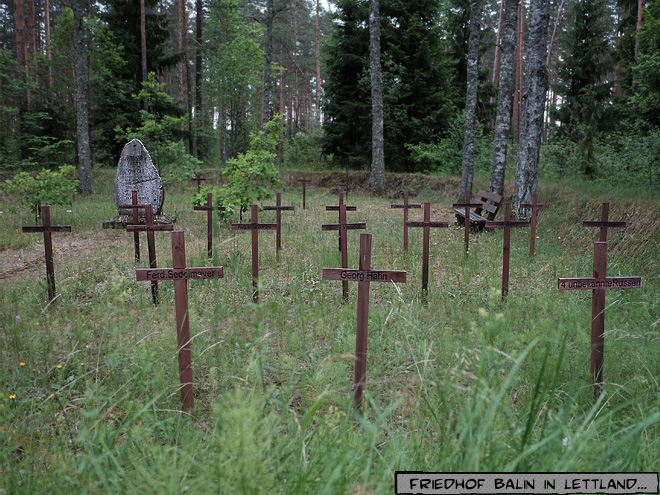 Soldatenfriedhof erster Weltkrieg I. in Lettland