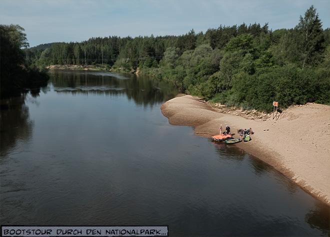 Fluss Gauja Lettland