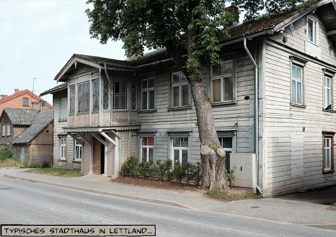 Holzhaus in Cesis, Lettland