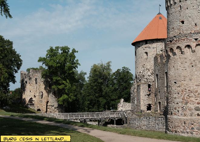Burg Cesis in Lettland