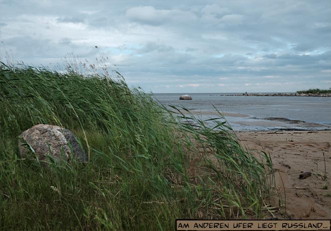 Ufer des Peipussee in Estland