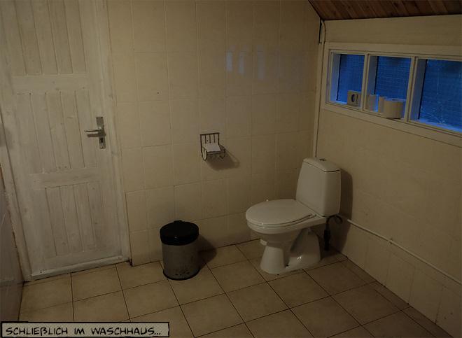 Toilette auf dem Campingplatz