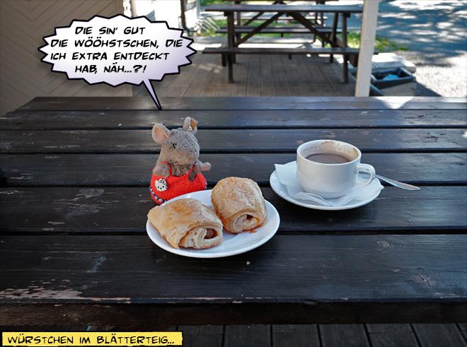Pieps und Kuchen und Kaffee