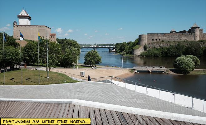 Herrmannsfeste und Festung Iwanogrod an der Narva