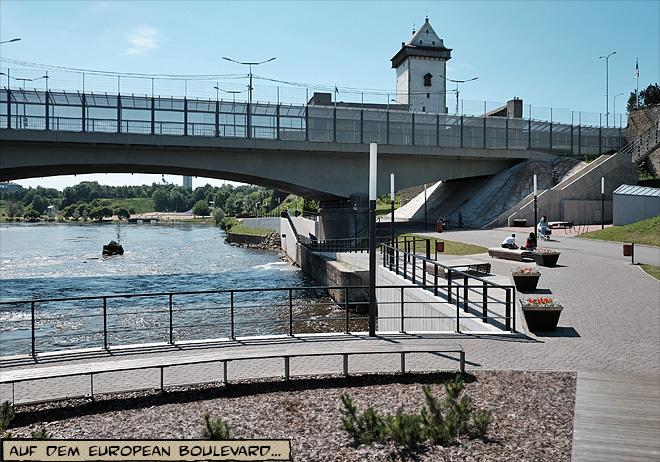 Der russische Grenzübergang in Narva