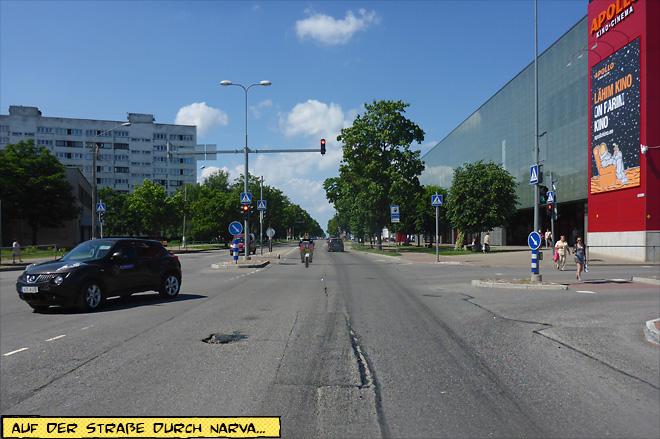 Straße durch Narva