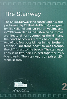 <Stairway to the beach in Saka Manor