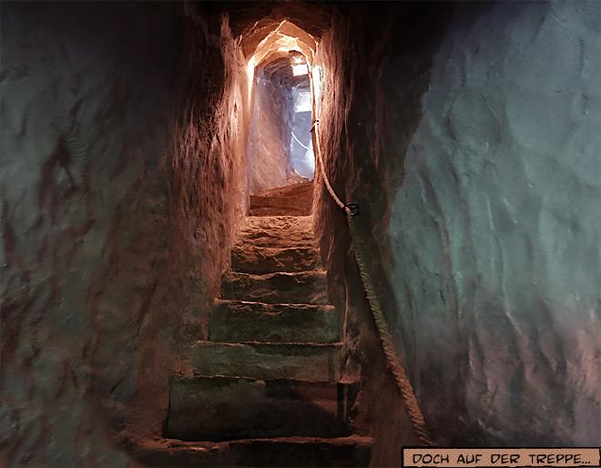 Treppe in Mittelalterlichem Turm