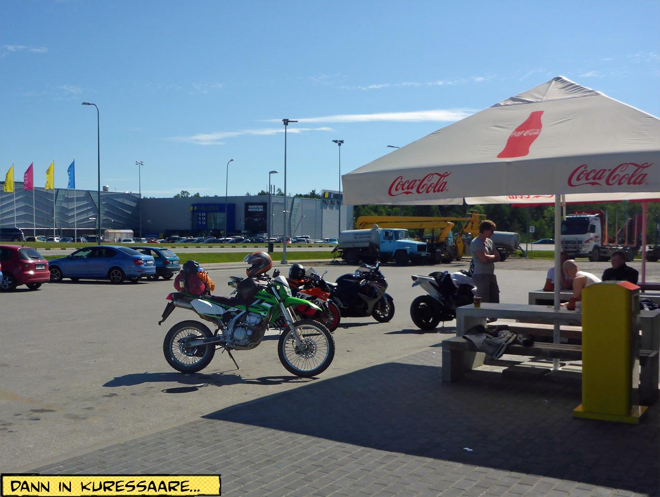 Motorräder Pause