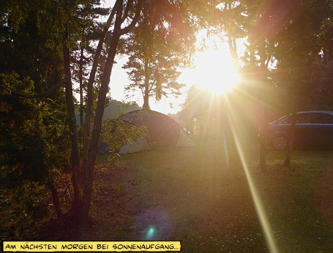 Sonnenaufgang Campingplatz