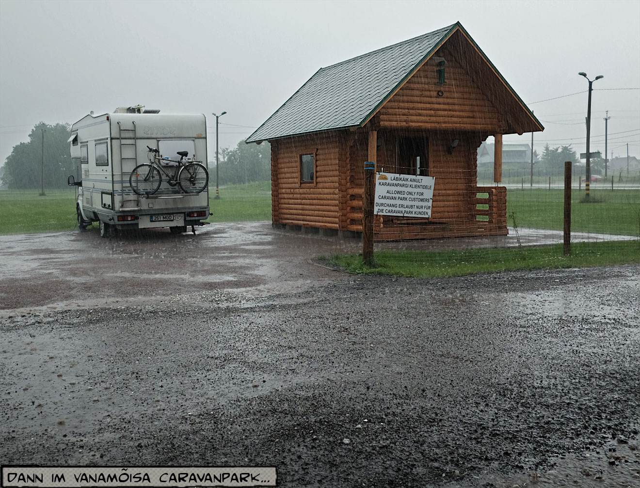 Regen auf dem Campingplatz