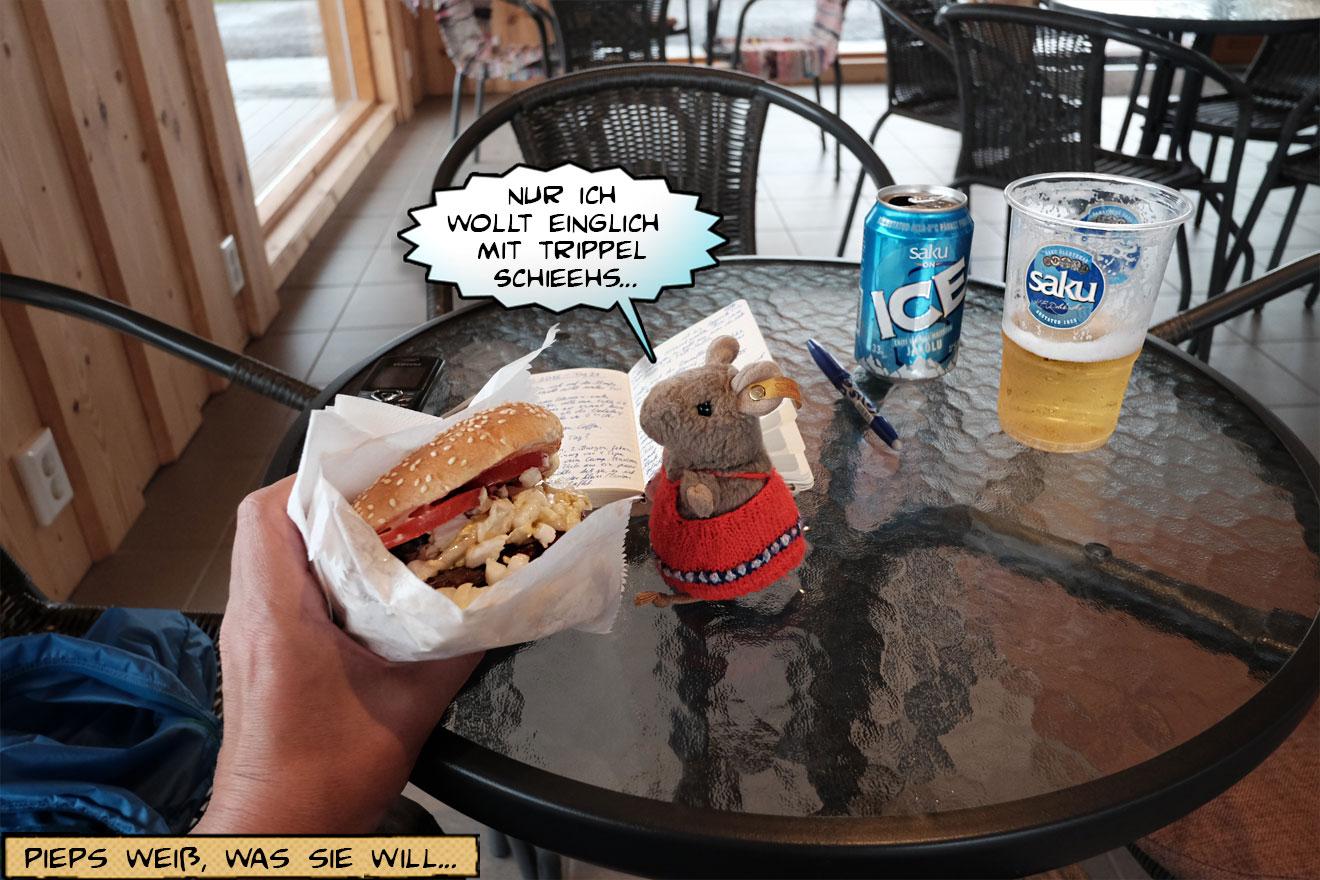 Hamburger und Bier