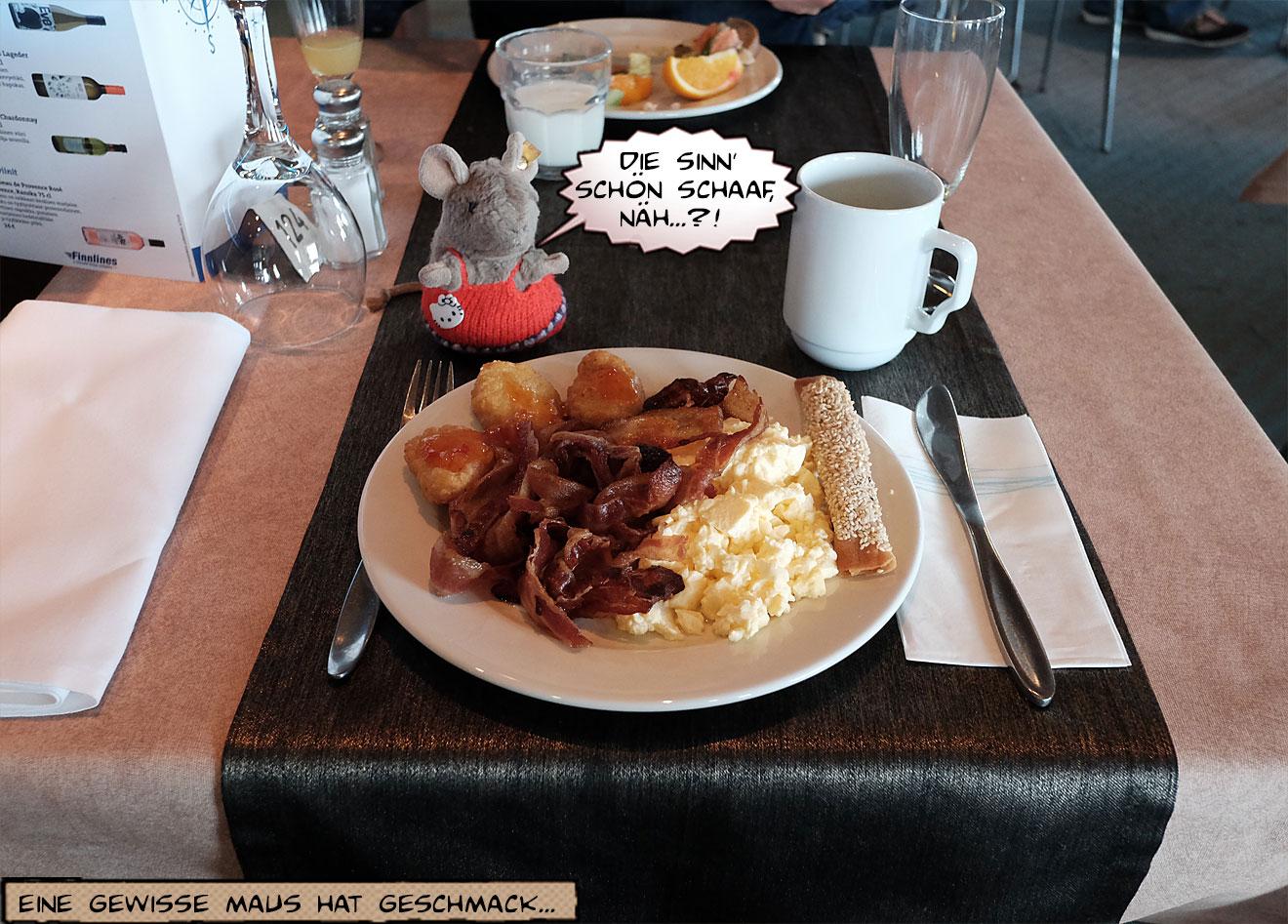 Frühstück Eier und Speck