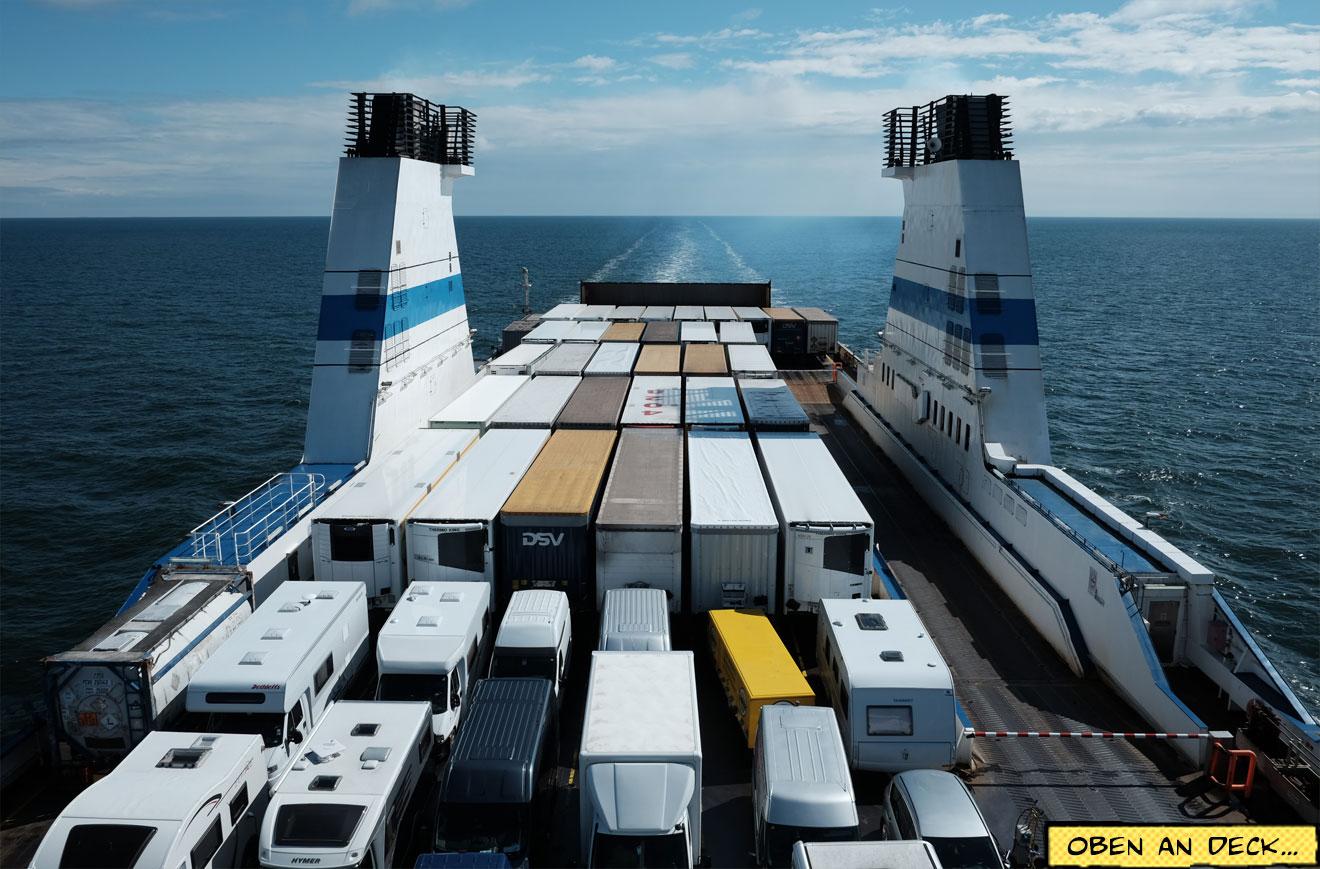Fährschiff LKW-Deck