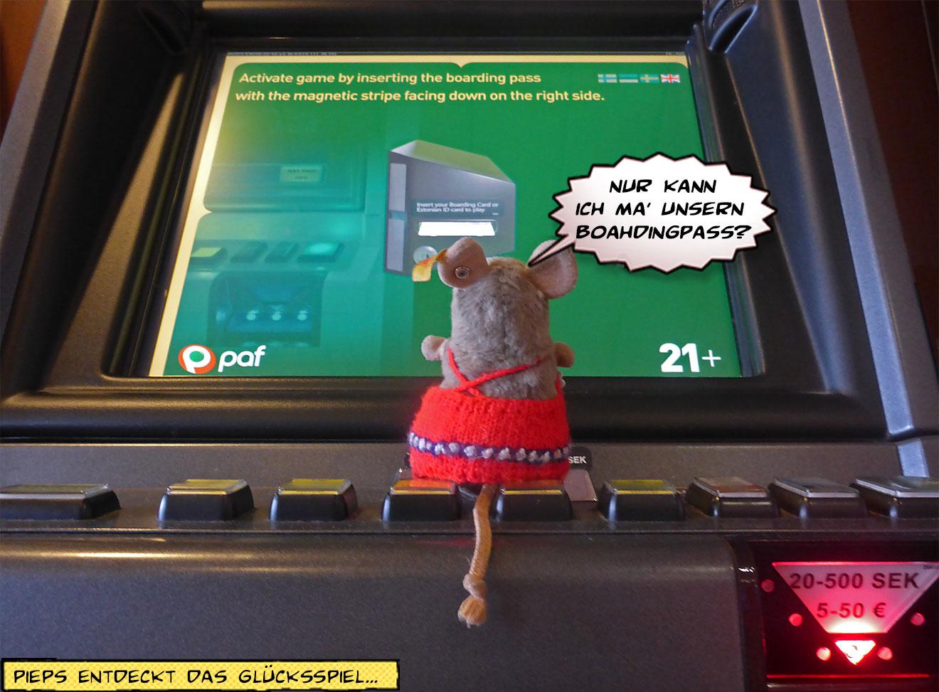 Kind am Spielautomat