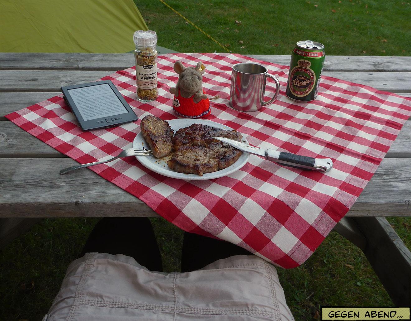Picknick am Zelt