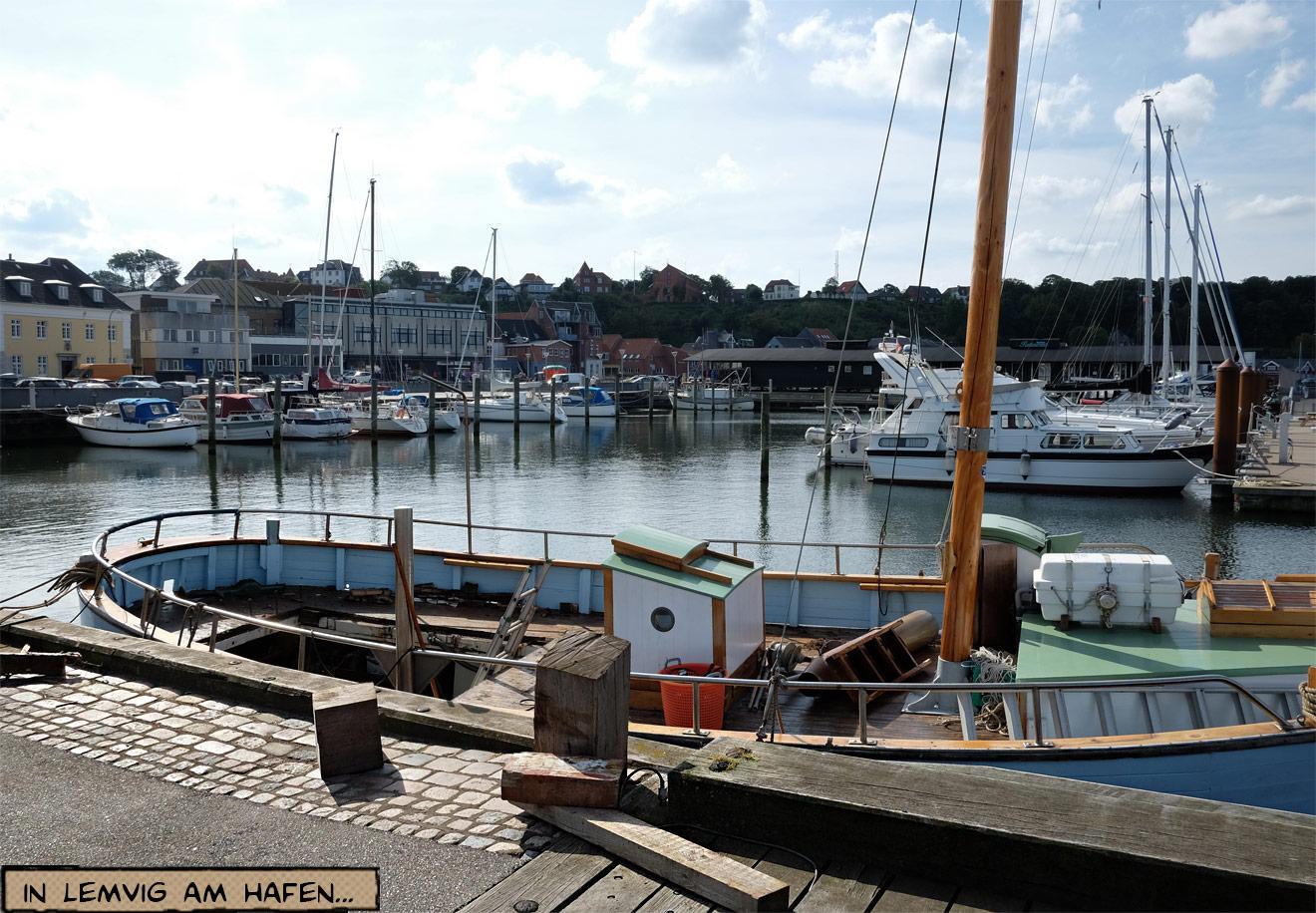 Hafen von Lemvig in Dänemark