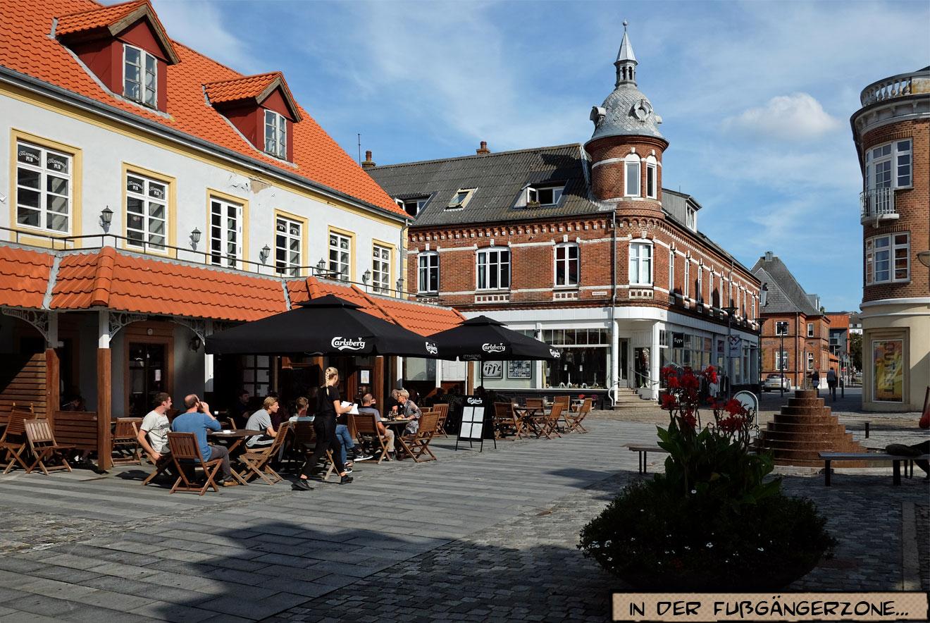 Fußgängerzone in Lemvig Dänemark
