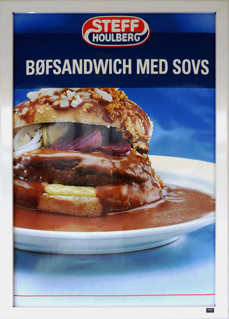 Hamburger Fastfood Werbeplakat