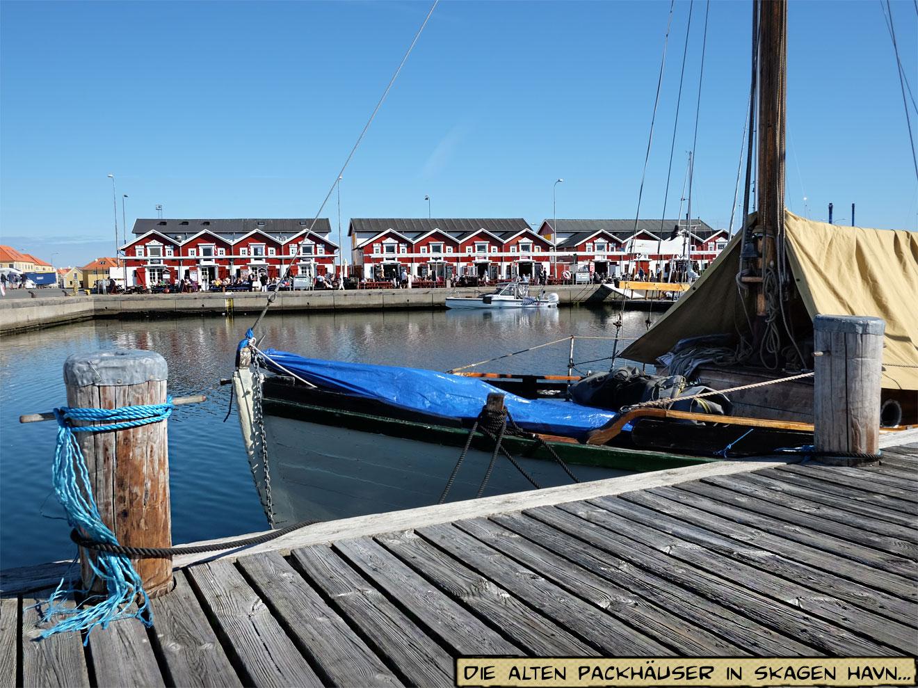 Skagen Fischerhütten am Hafen