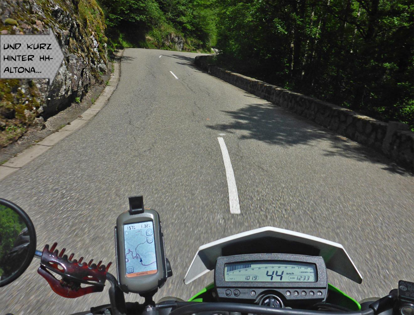 Motorrad in der Kurve