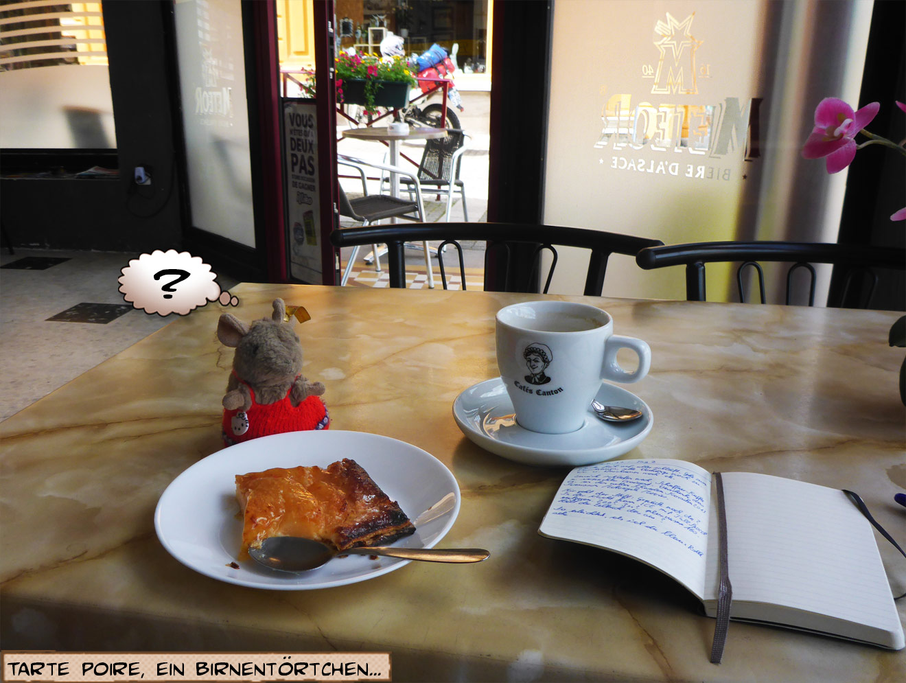 Kaffee und Kuchen in Frankreich