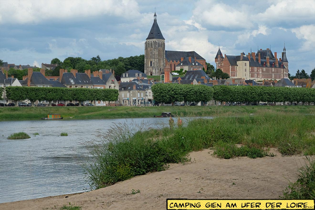 Gien am Ufer der Loire