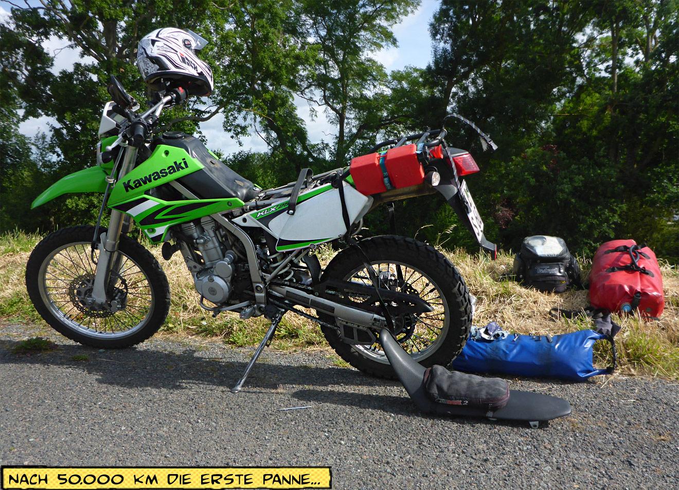 Motorrad mit Panne