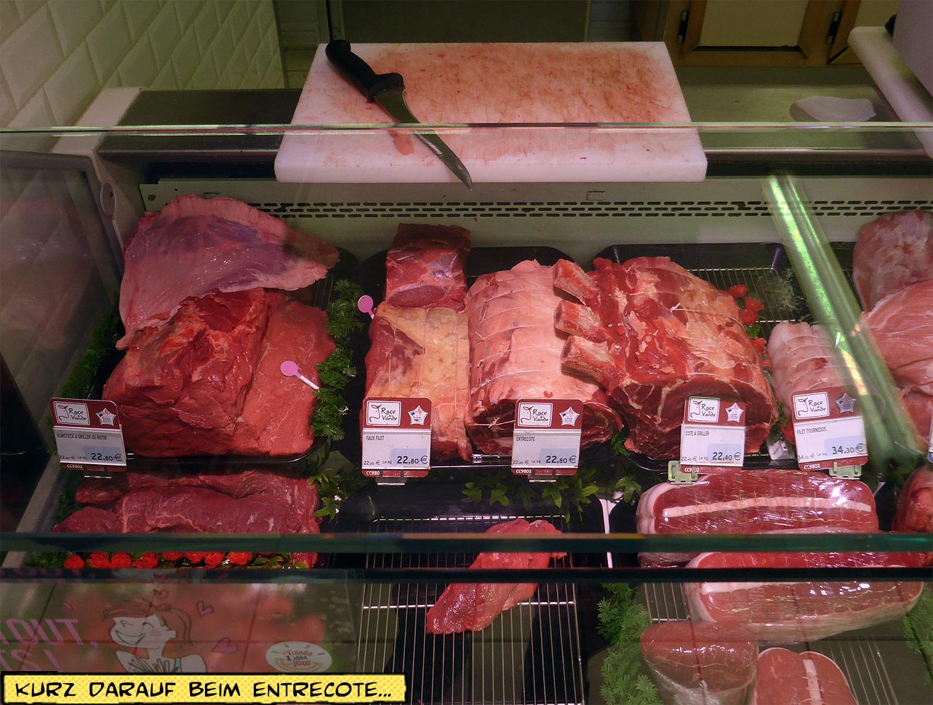 Fleischtresen beim Metzger