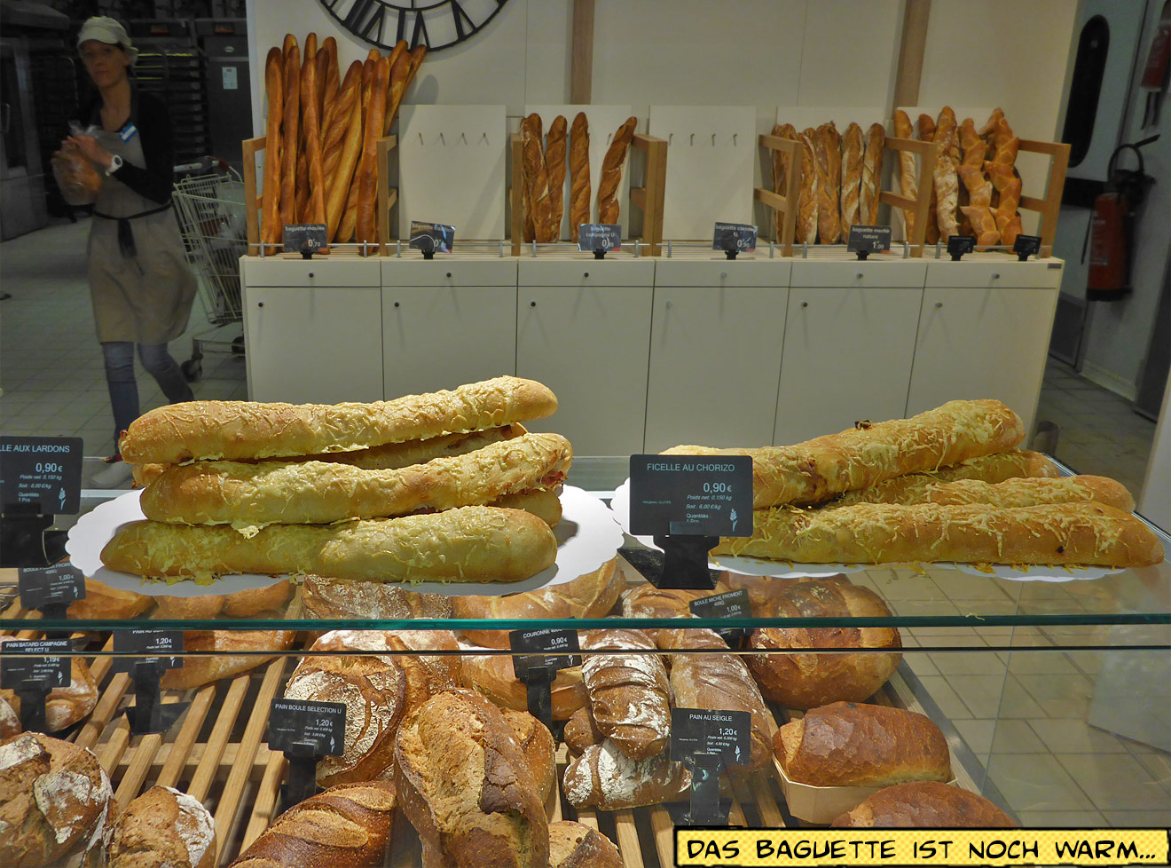Brottheke im Supermarkt